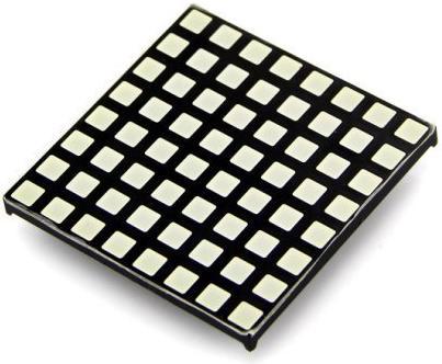 Модуль RL007. Светодиодная матрица 8х8 с красными квадратными светодиодами