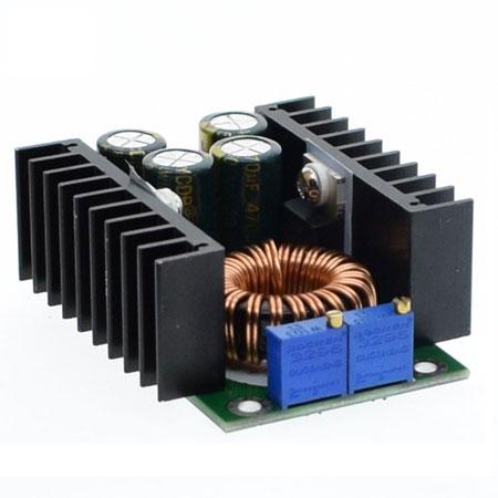 Модуль RP059. Понижающий DC-DC преобразователь напряжения. 1,25…35 В / 0,3...10 А (с вентилятором)