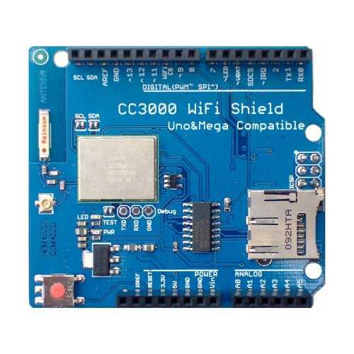 WiFi Shield CC3000 для Arduino UNO, MEGA, Leonardo