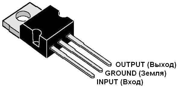 Расположение выводов микросхемы Интегрального Стабилизатора напряжения