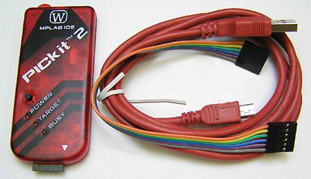 Модуль RC036. PICKIT 2 W. USB Программатор PIC контроллеров, микросхем памяти EEPROM и ключей KeeLOQ