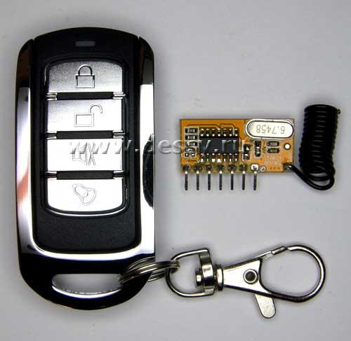 Субминиатюрный выключатель дистанционный четырёхканальный  на радиочастоте. Модуль RMC005