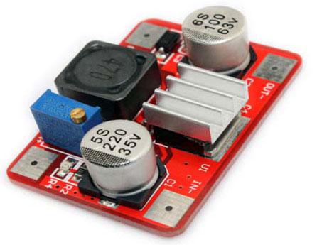 Модуль RP035. Регулируемый повышающий преобразователь напряжения
