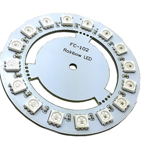 Модуль RL009. Диск из 16 цифровых RGB светодиодов WS2811