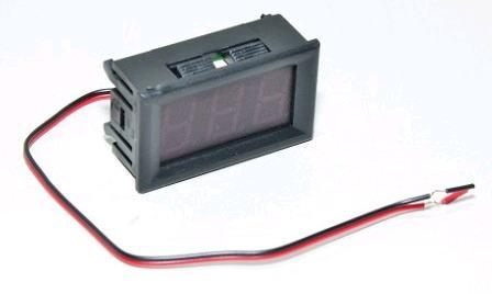 Модуль RI028. Вольтметр в корпусе 4.5-30 В (зелёный).
