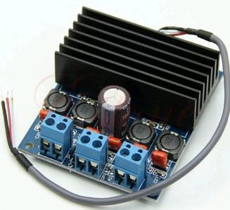 Модуль RS021. Двухканальный 50 Вт + 50 Вт аудио усилитель класса D на базе TDA7492