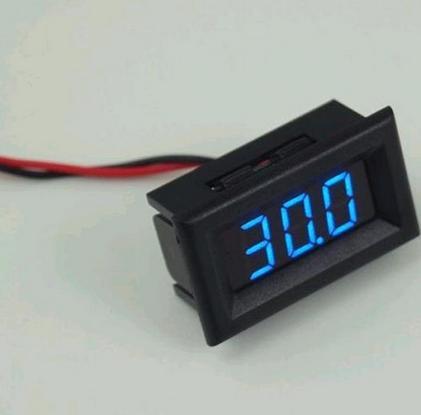 Модуль RI036. Вольтметр в корпусе 3.0-30 В (синий).