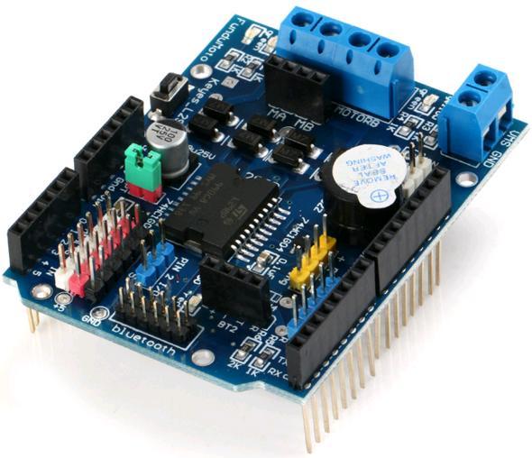 Модуль RC057. Шилд контроллера двигателей на базе L298P
