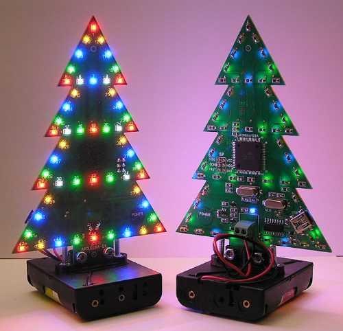 Светодиодная микропроцессорная программируемая новогодняя ёлочка - АрдуЁлка-01