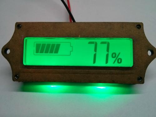 Индикатор емкости  12-вольтовых свинцовых и литий-полимерных батарей. Модуль RI041