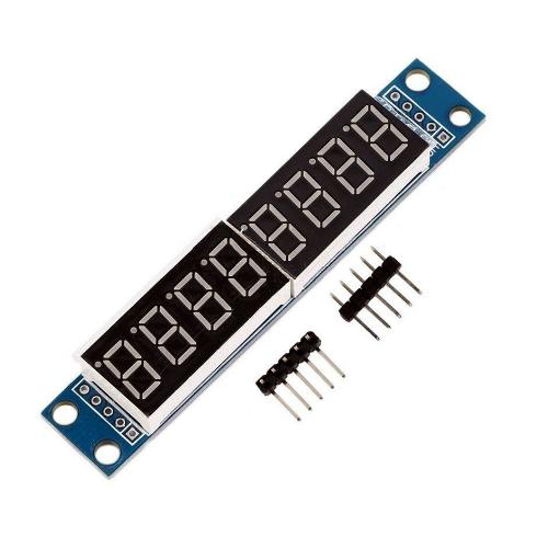 Дисплей на 8 знакомест из двух  7-сегментных четырехразрядных LED- индикаторов. Модуль RC064