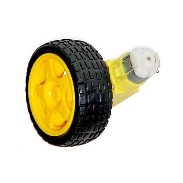 RBT003. Мотор-редуктор с колесом для робототехнических платформ