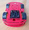 Набор RBT006. Четырёх колёсное шасси Smart car. Красная платформа