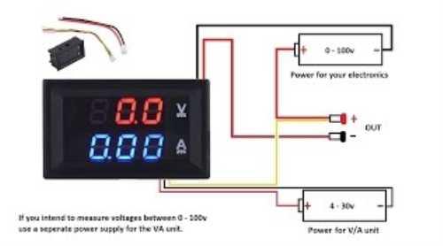 DSN-VC288 Цифровой ампервольтметр RI048 DC 0 - 100V / 10A (Красная/Синяя индикация)