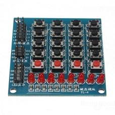 RC091 Модуль ввода и индикаци 20 кнопок, 8 светодиодов