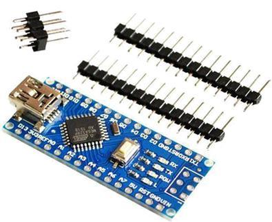 Модуль RC095. Контроллер, совместимый с Arduino NANO v3.0, 5 Вольт, ATMEGA328, 16 МГц, USB интерфейс CH340G с отдельными штыревыми разъёмами