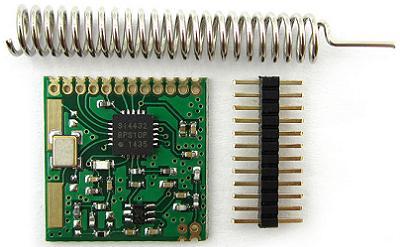 Модуль RF039. Приёмопередатчик SI4432 (240...960 МГц)