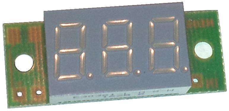 MМодуль RI109.1M. Вольтметр DC 6...30 В (Красный дисплей 9 мм)