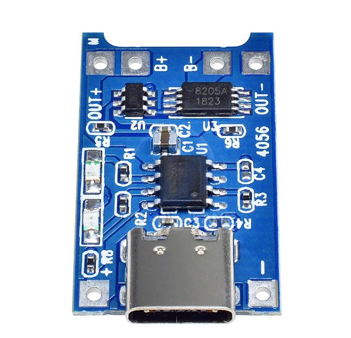 Модуль RP0104. Контроллер Li-Ion аккумуляторов EM4056A (заряд/разряд) USB-C