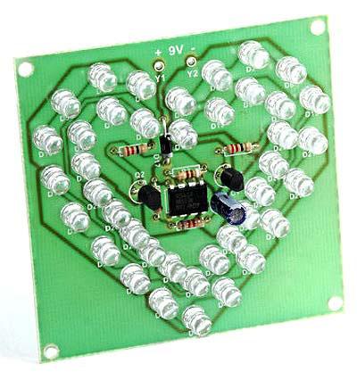 Радиоконструктор RL204. Мигающее «сердце» на светодиодах