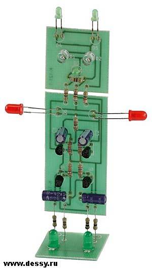Радиоконструктор RL121. Световой эффект Супер робот