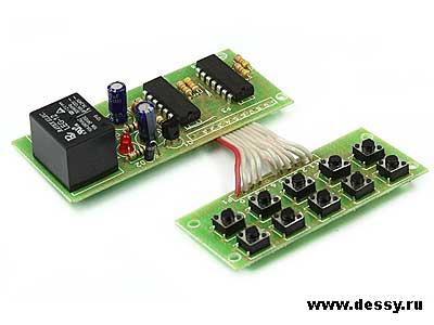 Радиоконструктор RA259. Кодовый выключатель