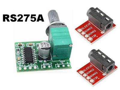 Радионабор RS275A. Стереоусилитель GF1002 на PAM8403 для наушников