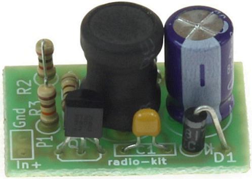 Радиоконструктор RP289. Повышающий преобразователь напряжения 1,5 В в 3...4 В