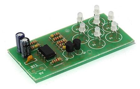 Радиоконструктор RL147. Световой эффект Мерцающий цветок на светодиодах