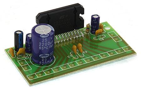 Модуль RS215E. Четырёхканальный УНЧ 4х30 Вт на микросхеме TDA7383