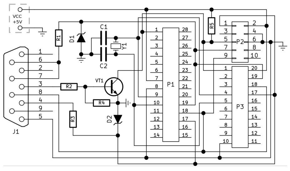 AVR программатор на Com Port. Радиоконструктор RC156