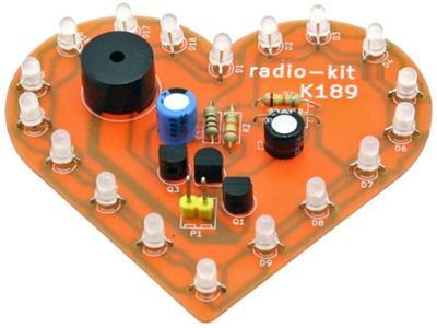 Радиоконструктор RL189. Световой эффект «Музыкальное сердце»
