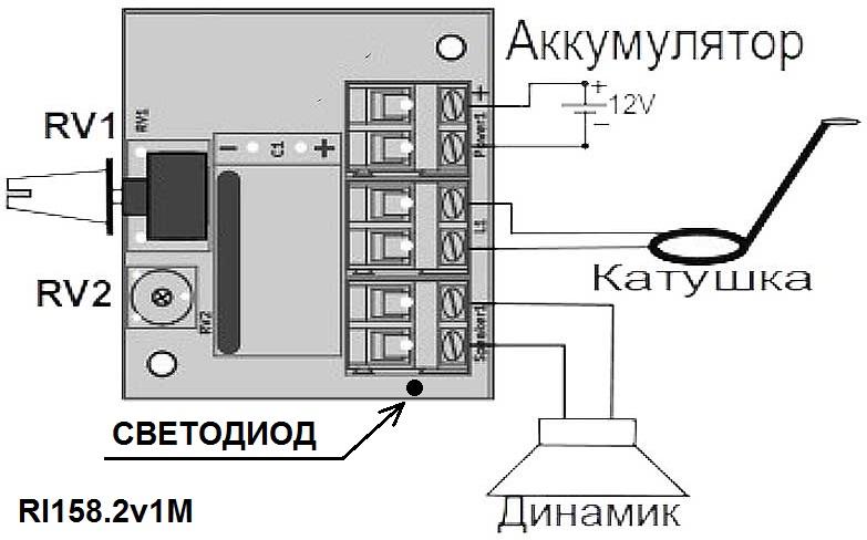 Модуль RI158.2M. Импульсный металлоискатель