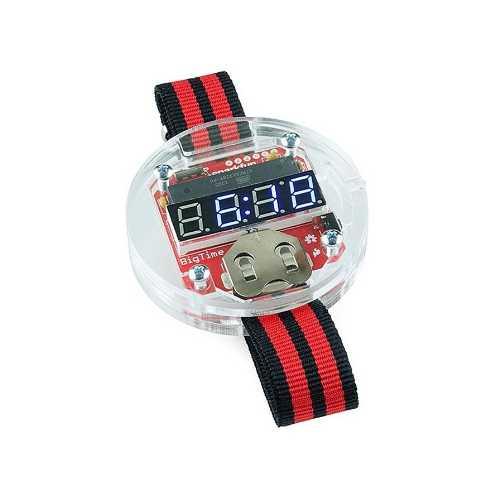 Комплект для сборки наручных Arduino-часов BigTime Watch Kit