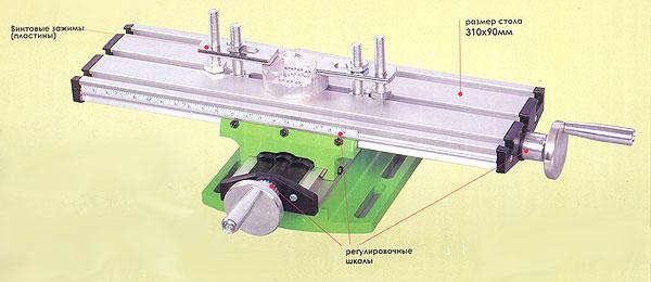 Стол двухкоординатный механический, для станка. Арт. 25500
