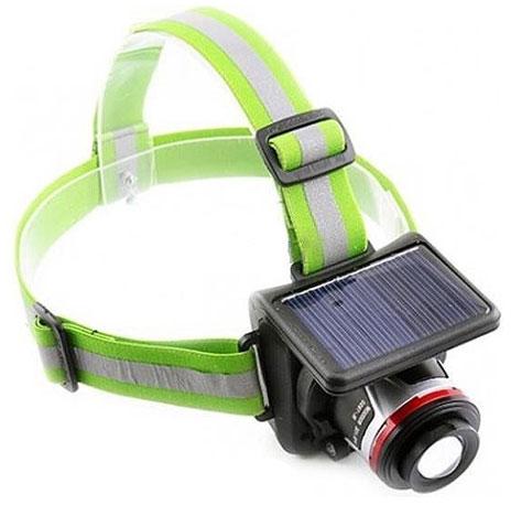Фонарь светодиодный налобный с солнечной батареей BL-855