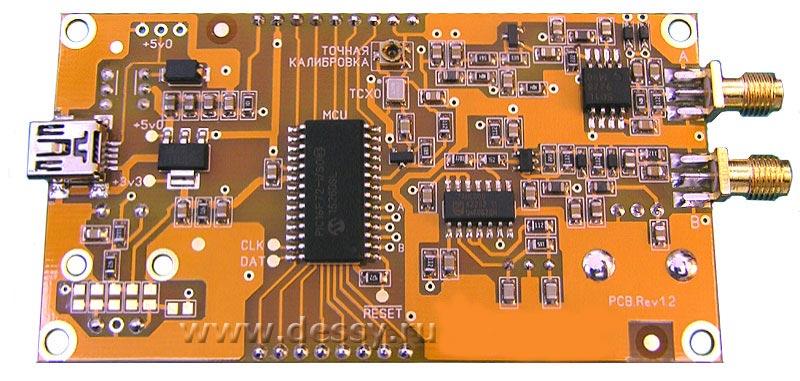 Обратная сторона частотомера FC1100-M3 от 1 Гц до 1100 МГц с функцией проверки кварцевых резонаторов.