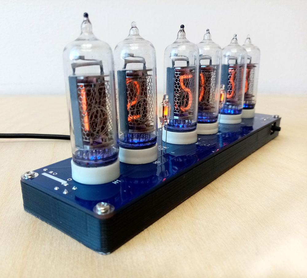 Часы NC1406 на газоразрядных индикаторах ИН-14 Nixie Clock