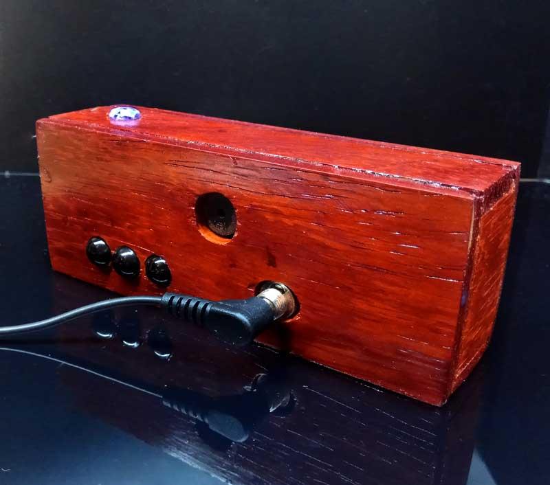 Nixie clock часы на газоразрядных индикаторах ИН-12 из красного дерева