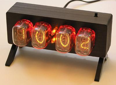 Часы NC1204-K2 на лампах тлеющего разряда ИН-12