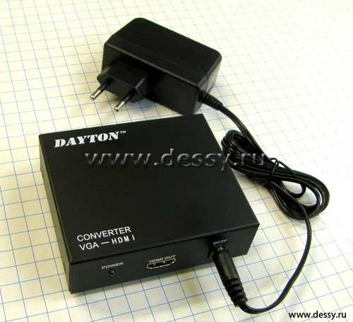 ПК - ТВ конвертер VGA - HDMI.