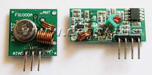 Набор RF002. Беспроводные модули 433,92 МГц. Комплект из приёмника и передатчика для Arduino
