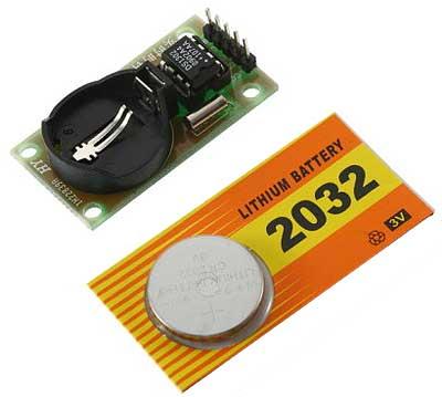 Модуль RC010. Mодуль часов реального времени на микросхеме DS1302 с батареей CR2032 для ARDUINO