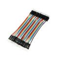 Кабель DUPONT из 40 разноцветных многожильных проводов 20 см для макетирования типа папа-папа