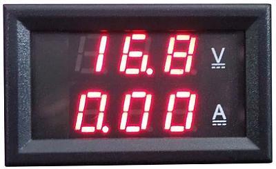 Модуль RI064. Цифровой ампервольтметр 3,5...30 В; 0...3 А