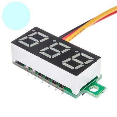 Модуль RI087. Вольтметр DC 0...100 В (Белый дисплей 7 мм)