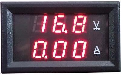 Модуль RI092. Ампервольтметр DC 0...100 В (10 А). КРАСНЫЙ
