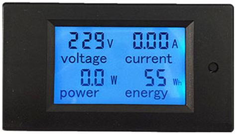 Модуль RI0125. Цифровой вольтметр, амперметр, ваттметр, счётчик. Тип 3