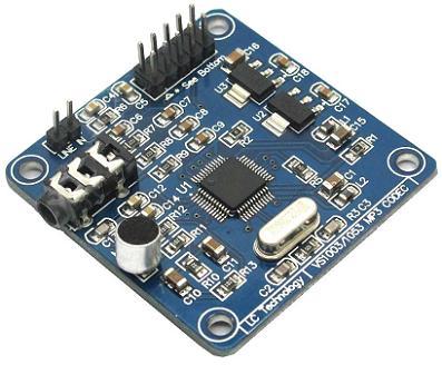 Модуль RS015. Модуль кодека MP3/WMA/WAV/MIDI на VS1003