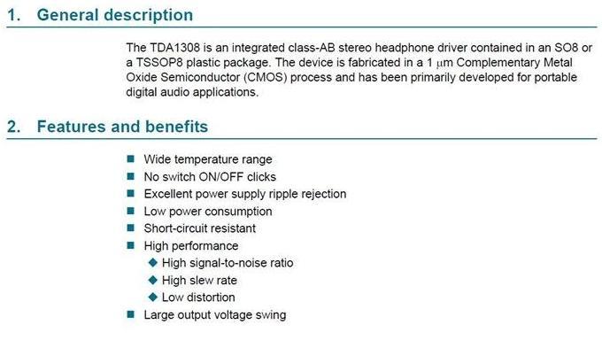 CJMCU-1308 Class AB stereo headphone driver audio module TDA1308. original description